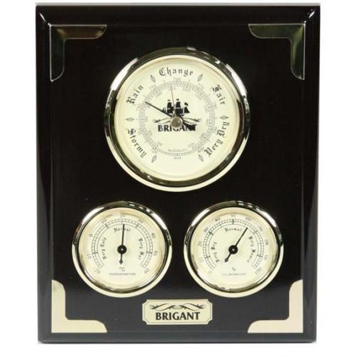 Барометр-метеостанция BRIGANT: барометр, термометр, гигрометр 16*20см