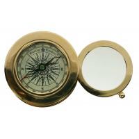 Сувенир настольный: лупа и компас 7*7*3см