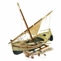 """Декоративная модель рыбацкой лодки """"Шхуна"""" 50см"""