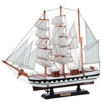 """Модель корабля """"Confection"""" (черно-белый), дл.50см"""