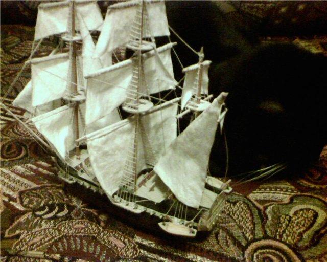 модели кораблей из пенопласта