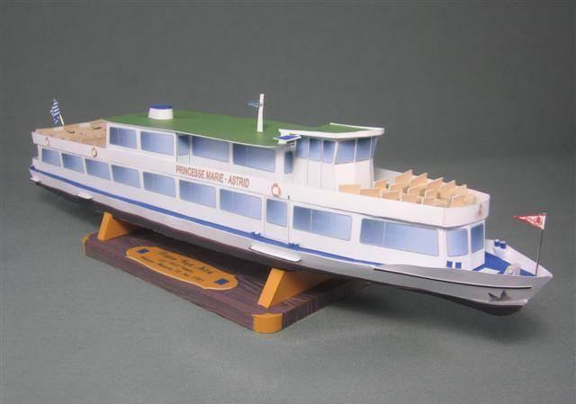 Макет корабль из бумаги